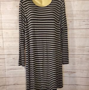 Maurices Striped Long Sleeve Dress